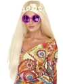 Accessoires Hippie Lunettes de soleil signe de paix