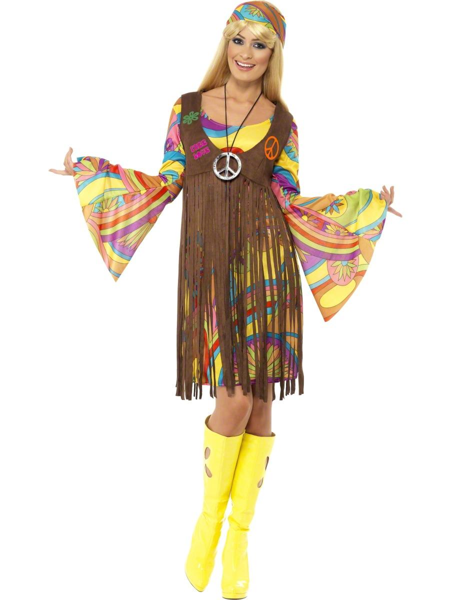 Déguisement Hippie Femme Costume de Lady groovy années 1960