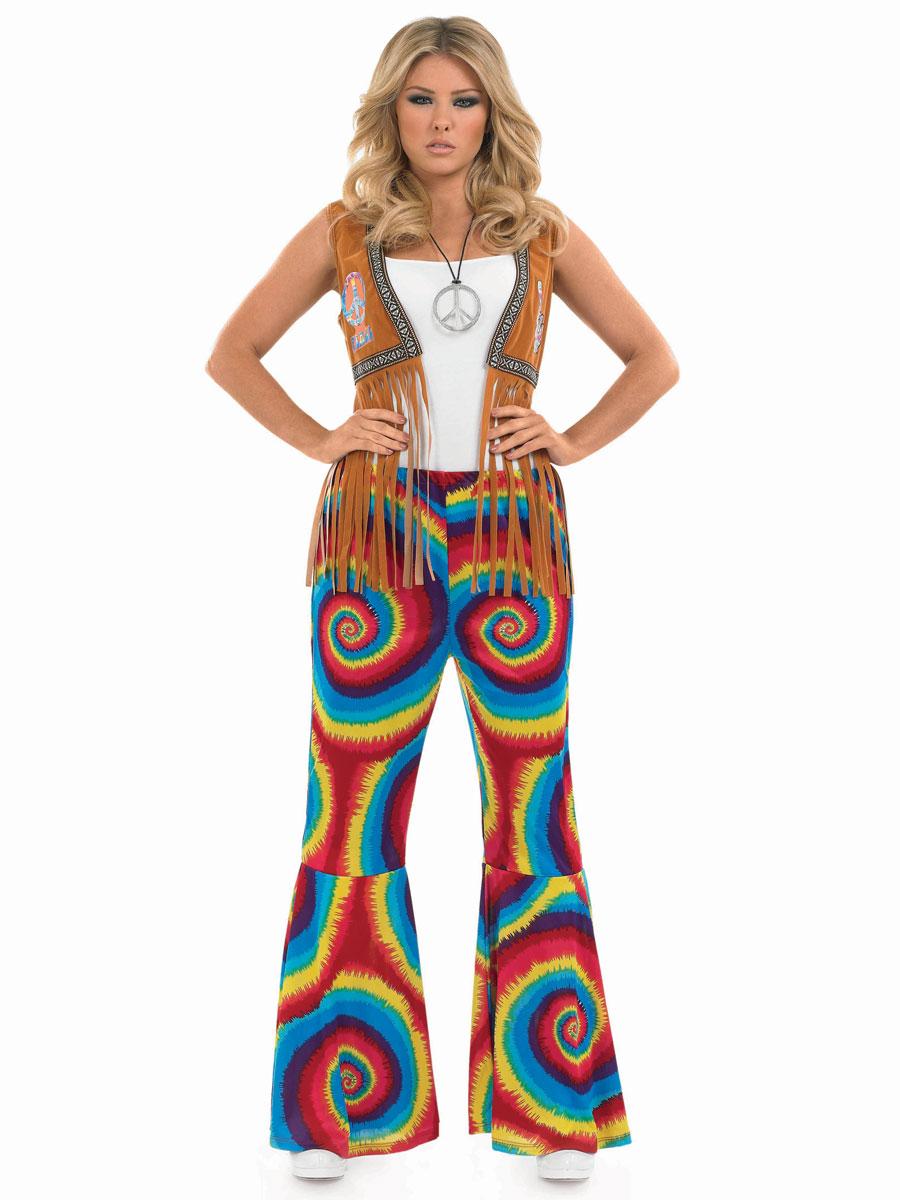 Déguisement Hippie Femme Mesdames Hippie Tye Dye fusées éclairantes
