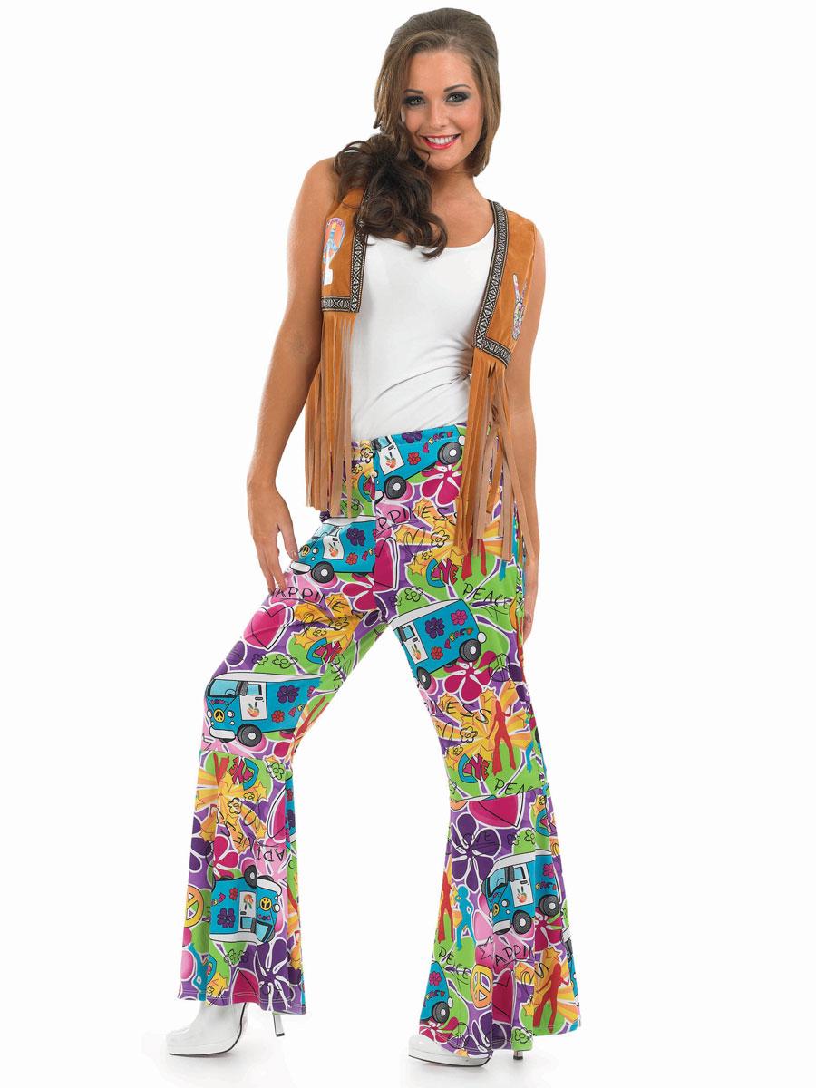 Déguisement Hippie Femme Mesdames Hippie à motifs fusées éclairantes