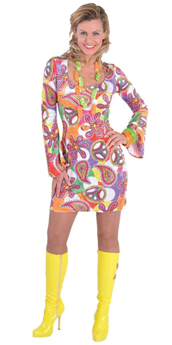 Déguisement Hippie Femme Costume amusant Mini robe 60 ' s Deluxe