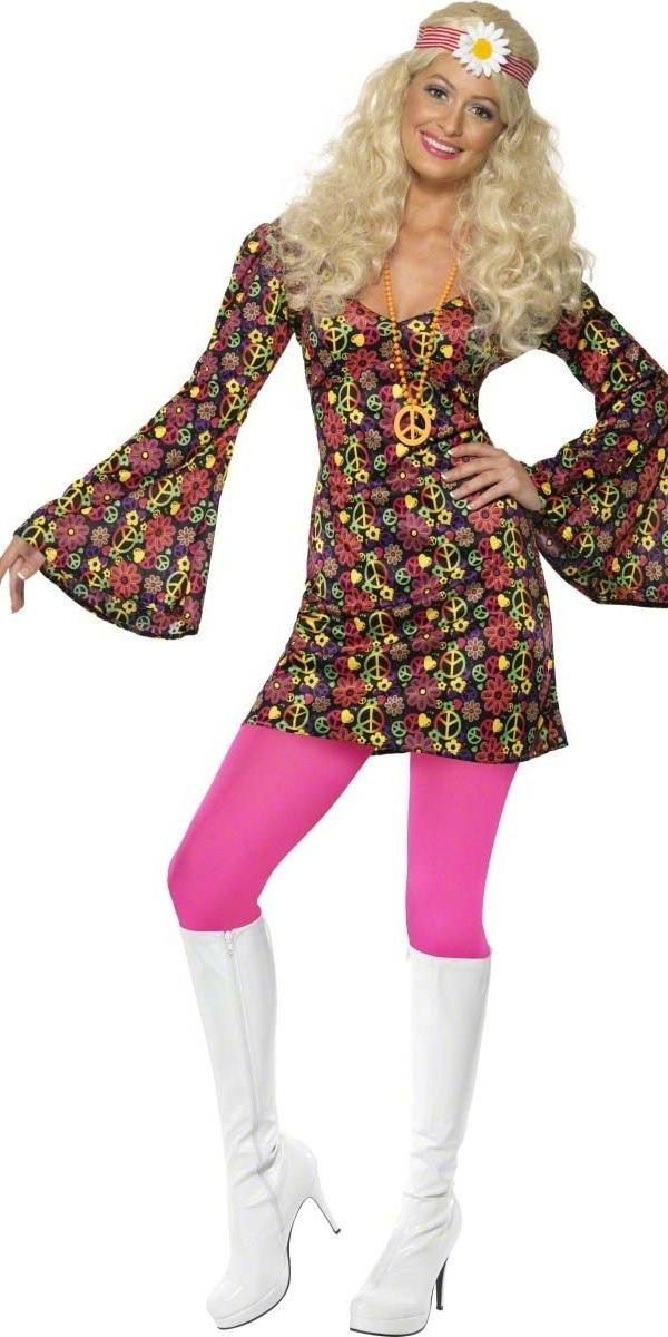 Déguisement Hippie Femme 60 ' s CND Mesdames Costume