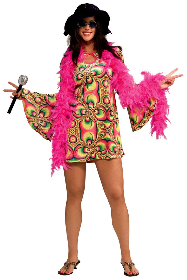 Déguisement Hippie Femme Costume de Psychadelia des années 60