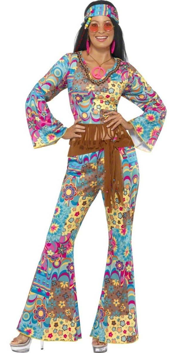 Déguisement Hippie Femme Costume de hippie Flower Power