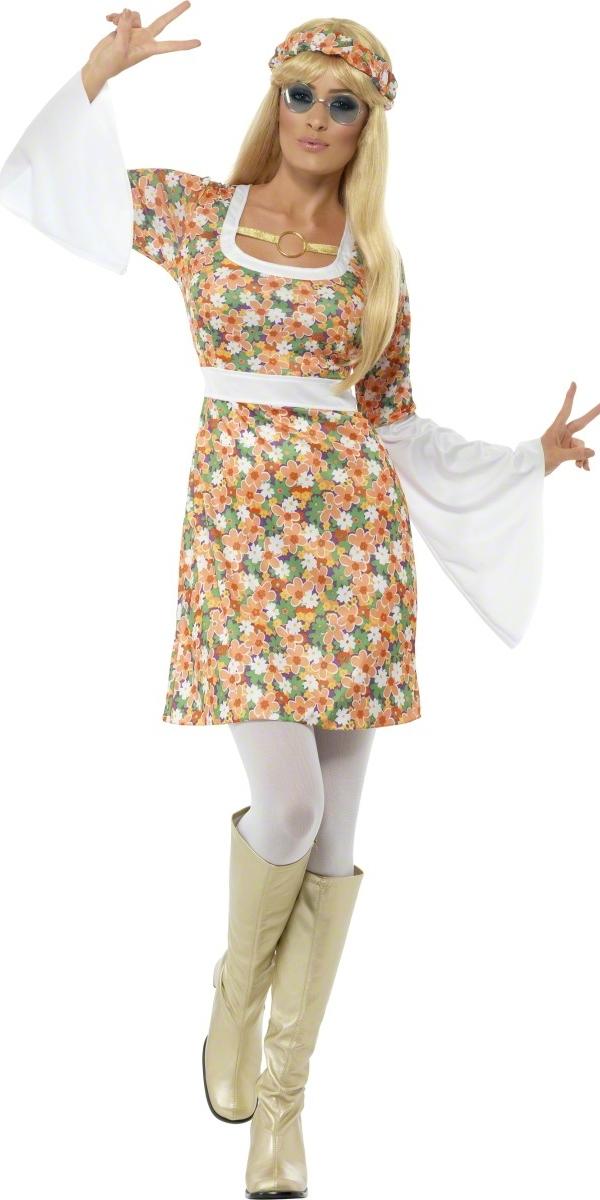 Déguisement Hippie Femme Mesdames Costume Flower Power