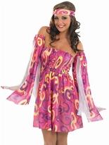 Robe tourbillon 60 ' s Déguisement Hippie Femme