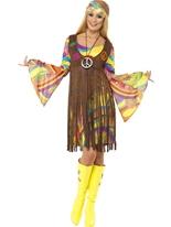 Costume de Lady groovy années 1960 Déguisement Hippie Femme