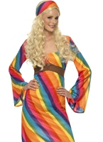 Costume de Hippie arc-en-ciel dames Déguisement Hippie Femme