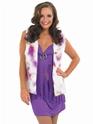 Déguisement Hippie Femme Costume Hippie violet avec gilet
