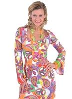Costume amusant Mini robe 60 ' s Deluxe Déguisement Hippie Femme