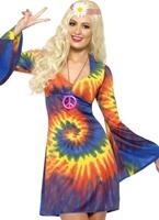 années 1960 Mesdames cravate Costume de colorant Déguisement Hippie Femme