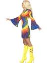 Déguisement Hippie Femme années 1960 Mesdames cravate Costume de colorant