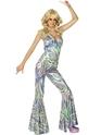 Déguisement Hippie Femme 60 ' s 70 ' s Dancing Queen efflore Catsuit