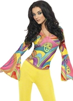 Costume Groovy Baby Déguisement Hippie Femme