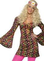 60 ' s CND Mesdames Costume Déguisement Hippie Femme