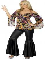 Costume Hippie des années 60 Déguisement Hippie Femme