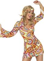 Costume hippie des années 1960 Déguisement Hippie Femme