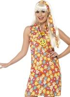 Costume hippie fleur Déguisement Hippie Femme