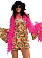 Costume de Psychadelia des années 60 Déguisement Hippie Femme