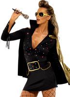 Elvis Viva Las Vegas noir Costume Déguisement Hippie Femme