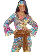 Costume de hippie Flower Power Déguisement Hippie Femme