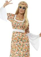 Mesdames Costume Flower Power Déguisement Hippie Femme