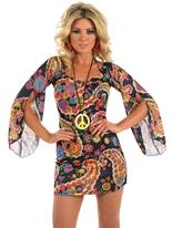 Costume Hippie floral Déguisement Hippie Femme