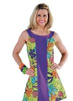 années 60 robe GoGo de paix Déguisement Hippie Femme