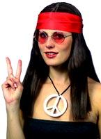 Kit de poussins de hippie des années 60 Déguisement Hippie Femme