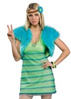 60 s girl Costume de chaux Déguisement Hippie Femme