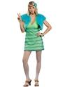 Déguisement Hippie Femme 60 s girl Costume de chaux