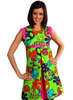 60 s magic paix Dress Déguisement Hippie Femme
