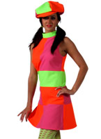 Robe de Go-Go à motifs 60 ' s Déguisement Hippie Femme