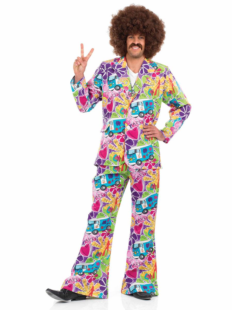 Déguisement Hippie Homme Costume costume psychédélique des années 60