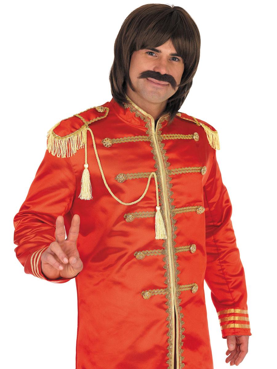 Déguisement Hippie Homme Le sergent rouge Costume de pop