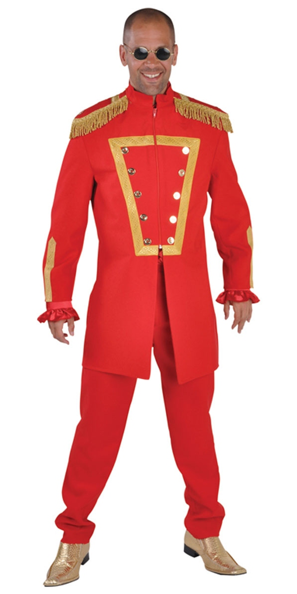 Déguisement Hippie Homme Costume de luxe le sergent poivre rouge