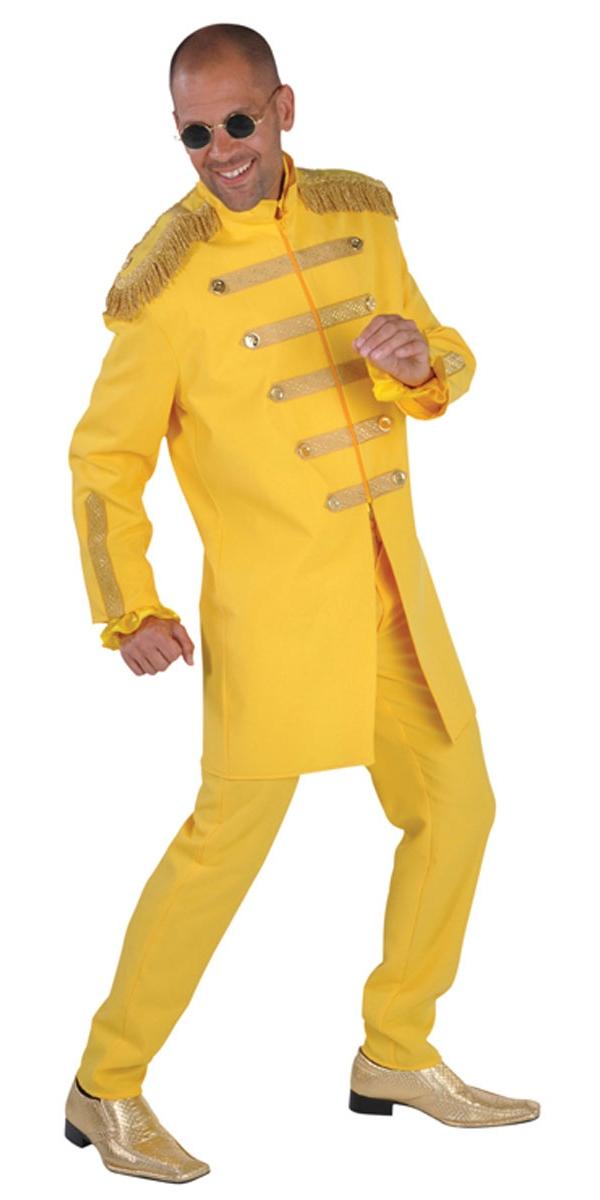 Déguisement Hippie Homme Costume de luxe le Sergent Pepper jaune