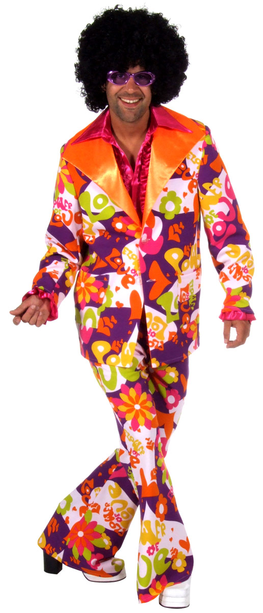 Déguisement Hippie Homme 60 s amour costume Costume de puissance