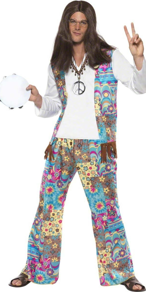 Déguisement Hippie Homme Costume de Hippie des années 60 Mens