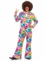 Costume costume psychédélique des années 60 Déguisement Hippie Homme