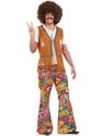 Déguisement Hippie Homme Mens 60 ' s psychédélique pantalon