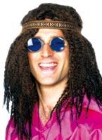 Kit Hippie des années 60 avec bandeau Déguisement Hippie Homme