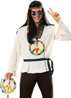60 les de groovin Man Costume Déguisement Hippie Homme