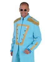 Costume de luxe le Sergent Pepper bleu Déguisement Hippie Homme