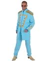 Déguisement Hippie Homme Costume de luxe le Sergent Pepper bleu