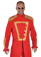 Costume de luxe le sergent poivre rouge Déguisement Hippie Homme