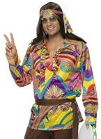 Costume hippie psychédélique des années 60 Déguisement Hippie Homme