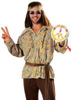 60 ' s Mod Marvin Costume Déguisement Hippie Homme