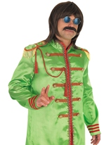 Pop Costume vert sergent Déguisement Hippie Homme