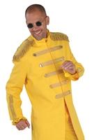 Costume de luxe le Sergent Pepper jaune Déguisement Hippie Homme